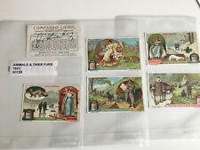 trade cards liebig animals & thier furs 1921 full set S1128