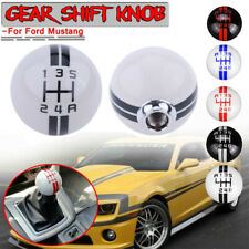 White & Black For Ford Mustang Car Manual Gear Shift Knob Shifter Lever 5 Speed