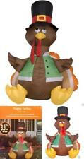 "Thanksgiving Day 3'.5"" Turkey Inflatable Pilgrim Holiday Yard Decoration Prelit"
