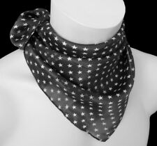 5b4d03b3bc1a3f leichtes Damen Nickituch Halstuch Tuch Sterne Streifen schwarz weiß 206 b
