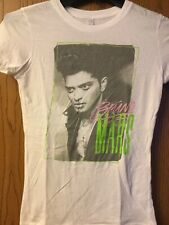 Bruno Mars.   Shirt    White.   Ladies Cut.   M
