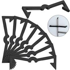 Pegboard Hook Locks Black Plastic Peg Hook Fixer Peg Board Hook Accessories Hook