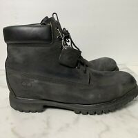 14 M Men's Black Timberland Premium Boots Waterproof 10073 Lace Up Ankle