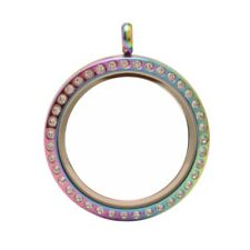 30mm Magnetic Multicolor Stainless Steel Floating Locket (L-30M-CR-MG)