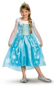Robe Déguisement Costume Reine Neiges Frozen Elsa Fille Princesse Noel xab06