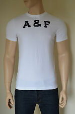 Nueva Abercrombie & Fitch Ferrocarril muesca Blanco A&F Tee T-shirt XL