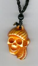 Resin Pirate skull Head necklace. Set of 6! Great for Halloween party!