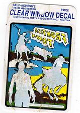 Vintage Frontier Town New York Amusement Park Decal Window Sticker Cowboys