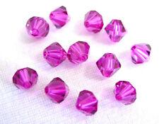 12 X Swarovski Crystal Beads # 5301 Fuschia 6MM
