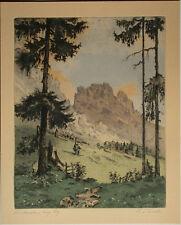 Karl Tucek Wien (1889-1952 ebd.)  Reichensteiner Gebirge.