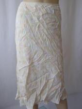 Ladies Beige Multi Colour Spotted Midi Skirt UK 10 EU 38