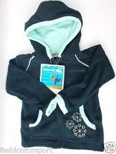 Trespass Flossy Boys Girls Kids Childrens Hooded Mirco Fleece Jacket Top Navy