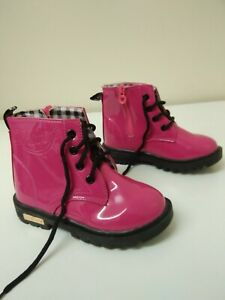 Girls kids child's boots size 11 UK 29 EUR Pink Dinimigi Fashion