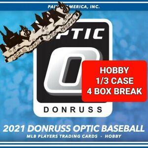 KANSAS CITY ROYALS 2021 DONRUSS OPTIC BASEBALL HOBBY 1/3 CASE 4 BOX BREAK #17