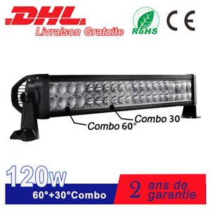 """24"""" 120W Barre De LED 4x4WD Offroad for Jeep Rampe De Toit Bateau Camion 12V 24V"""