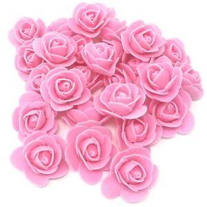 Light Pink 30mm Foam Rose Flower Roses Craft Decorative Craft Flowers Scrapbook