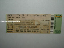 FLEETWOOD MAC Concert Ticket INDIANAPOLIS 2003 Conseco Fieldhouse STEVIE NICKS