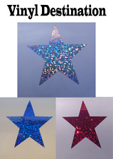 10 GLITTER STYLE Hologram Star Car Decal Vinyl Sticker Laptop Scooter Bike