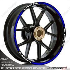 Trims Wheel Stickers Sport Honda VFR 750 800 1200 White Blue