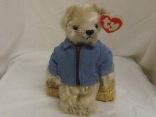 McKinley 2000 TY Beanies Attic Treasures 8in bear US flag jacket 3up girls 6604