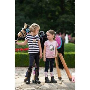 HKM Kindershirt STRIPED NAVY oder SOFT PINK HORSE