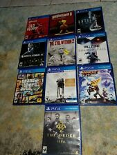 Lot of PlayStation 4 Games, Grand Theft Auto 5, Wolfenstein, Mortal Kombat,.