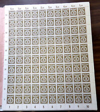 1943 GERMANY SC# B217 FULL STAMP SHEETS OF 100 VF NH
