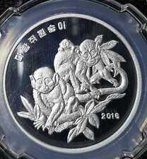 "DPK KOREA Zodiac Coin Of Year ""MONKEY"" 2 Won Coin Ø36mm (+FREE1 coin)#15110"