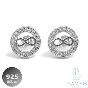 #wk# 1Paar Ohrhänger Ohrringe BRILLI Silber 925 Neu Diamant Imitat/> Zirkonia 7mm