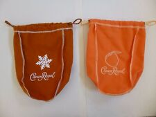 Crown Royal Snowflake 750ml and Peach 750ml Collector Bags New