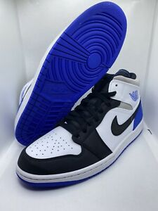 "New NIKE AIR JORDAN 1 MID SE ""UNION"" ROYAL 852542-102 SIZE 11"