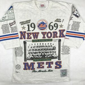 vintage 90s LONG GONE NEW YORK METS BASEBALL JERSEY T-Shirt LARGE mlb