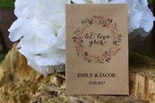 25 Wedding Personalised Seed Favours | Let Love Grow Seed Packets (with seeds)