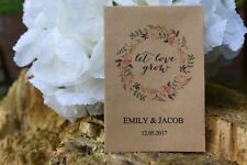 75 Wedding Personalised Seed Favours | Let Love Grow Seed Packets (no seeds)