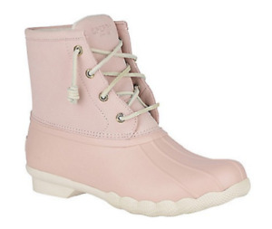 NIB Women's Sperry Saltwater Duck Boots in Blush STS84427