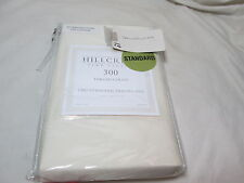 New Hillcrest Luxury Linens Ivory Two Standard Pillowcases ~ 300 Thread Count