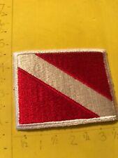 Vintage Divers Down Flag DIVER SCUBA DIVE SHOULDER PATCH 100% embroidered