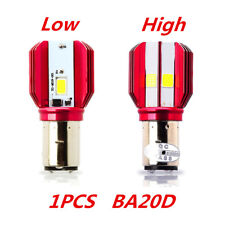 BA20D LED Motorcycle H6 Headlight Bulb COB 16W High Low Beam Lamp Accessories 1x