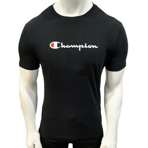 NWT CHAMPION AUTHENTIC MEN'S BLACK BIG & TALL SHORT SLEEVE CREW NECK T-SHIRT 1XL