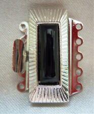 1  Schmuckverschluß - Kettenverschluß für 5-reihige Ketten -Silberfarben V-S 007