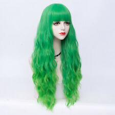 Lolita Long Curly Hair Women Anime Green 75cm Synthetic Cosplay Wigs Wigs+Cap