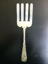 Vintage Sterling Silver Repousse Asparagus Fork by Jenkin's & Jenkin's c:1910