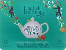 English Tea Shop Organic Wellness Tea Collection 36 Tea Bags Metal Gift Box