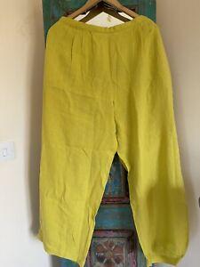 Gudrun Sjoden Linen Trousers (Size XXL (22-24)