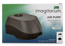 Imagitarium Air Pump-ADJUSTABLE AIRFLOW- (2 OUTLETS) For 60-100 GAL