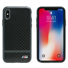 Genuine BMW Carbon M Sport Satin Stripe Hard Case for iPhone X