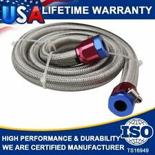 Universal Stainless Steel Braided Fuel Line 3/8 in 3 ft Length High performance