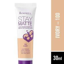 Rimmel Stay Matte Liquid Mousse Foundation 100 Ivory Lightweight Shine Control