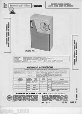 Golden Shield Models 3500 3608 3609 Transistor Radio PhotoFact Technical Manual