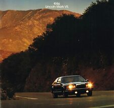 1986 Lincoln MARK MK. VII / 7 Brochure / Catalog: DESIGNER SERIES,BILL BLASS,'86